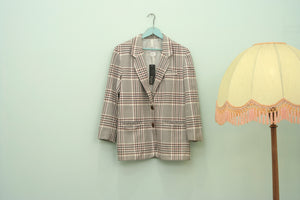 Vintage 80s Progressive checked blazer