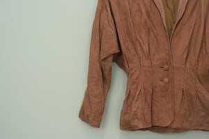 80s Tan leather Cincher jacket