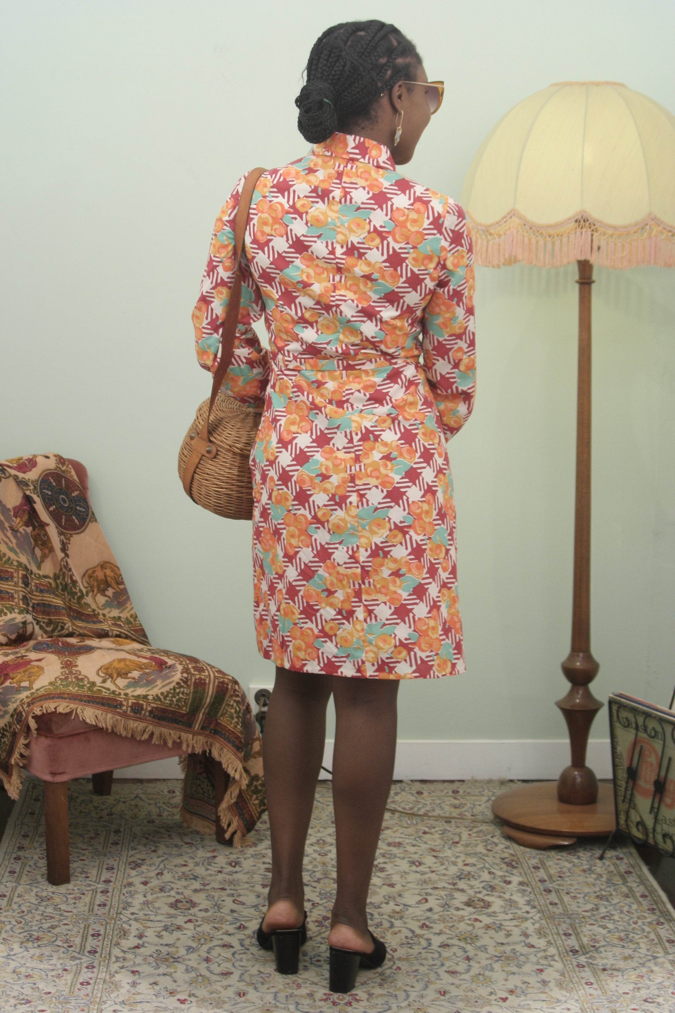 Vintage Gertie Orange blossom dress