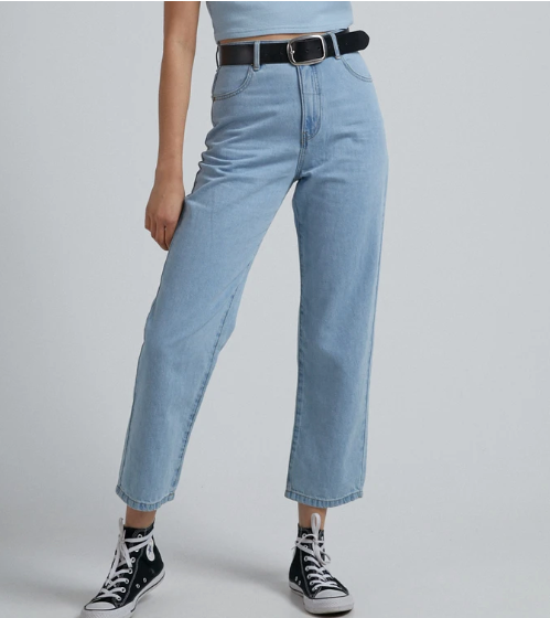 Afends Shelby hemp denim wide leg jeans