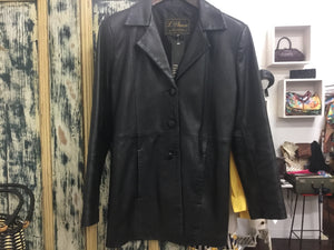 V 90s L'Aurore leather jacket M