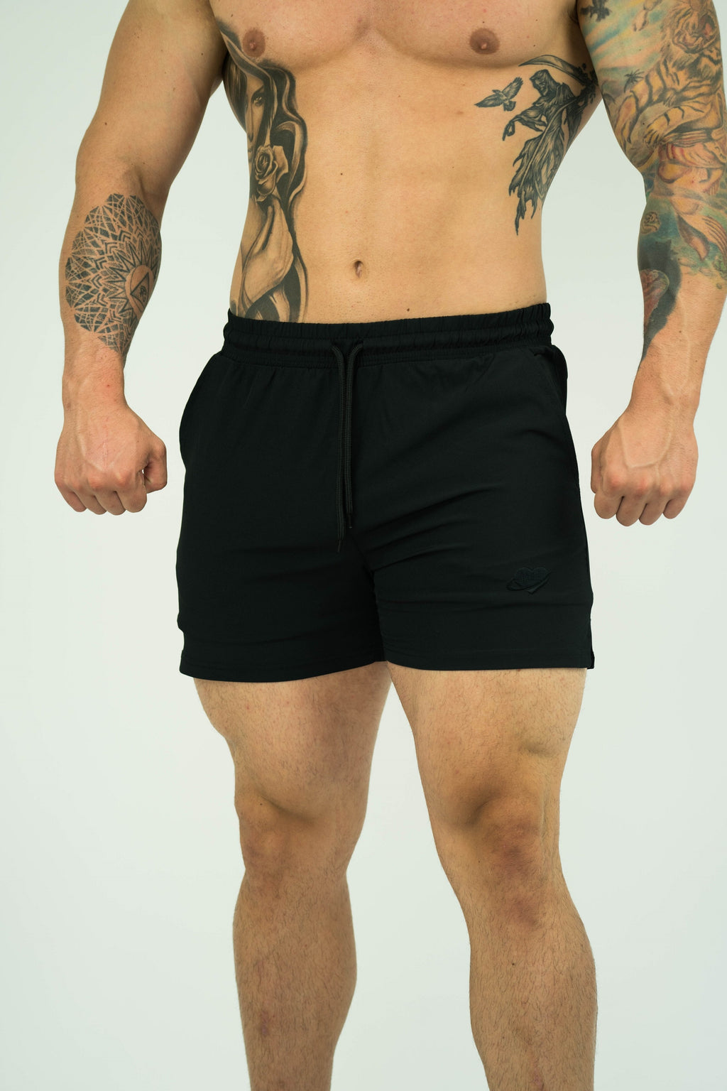 Mens Bodybuilding Quad Shorts