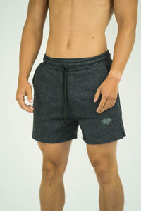 Mens French Terry Bodybuilding Quad Shorts