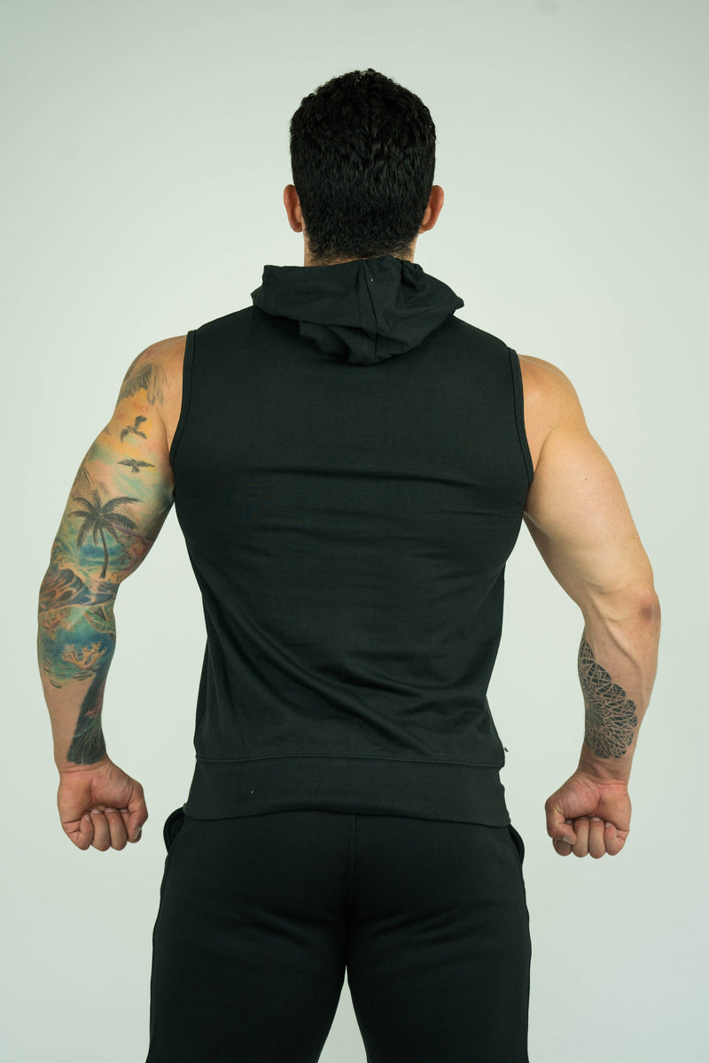 Mens Sleeveless Hoodie With Front Pockets - KARDIOMATTERS