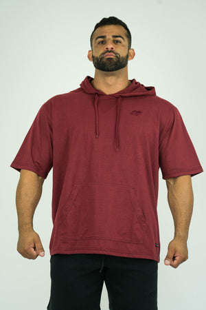 Mens Bodybuilding Oversized Short Sleeve Hooded Shirt - KARDIOMATTERS