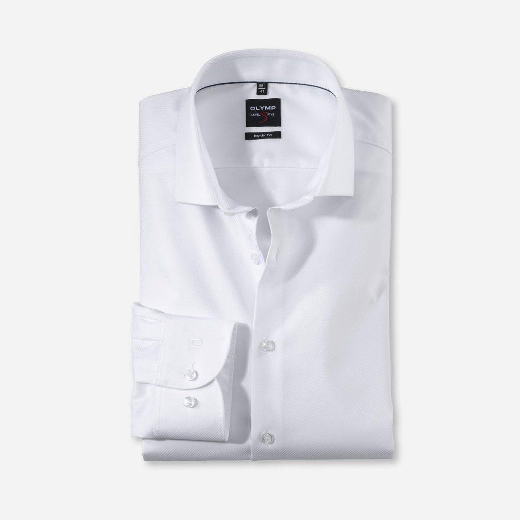 Olymp Body Fit Diamond Twill Shirt - Bernard Owens