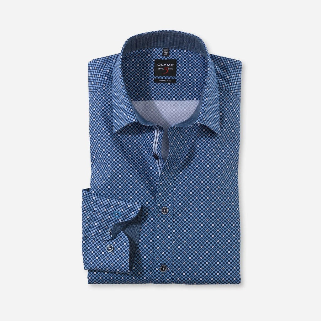 Olymp Body Fit Printed Pattern Shirt - Bernard Owens