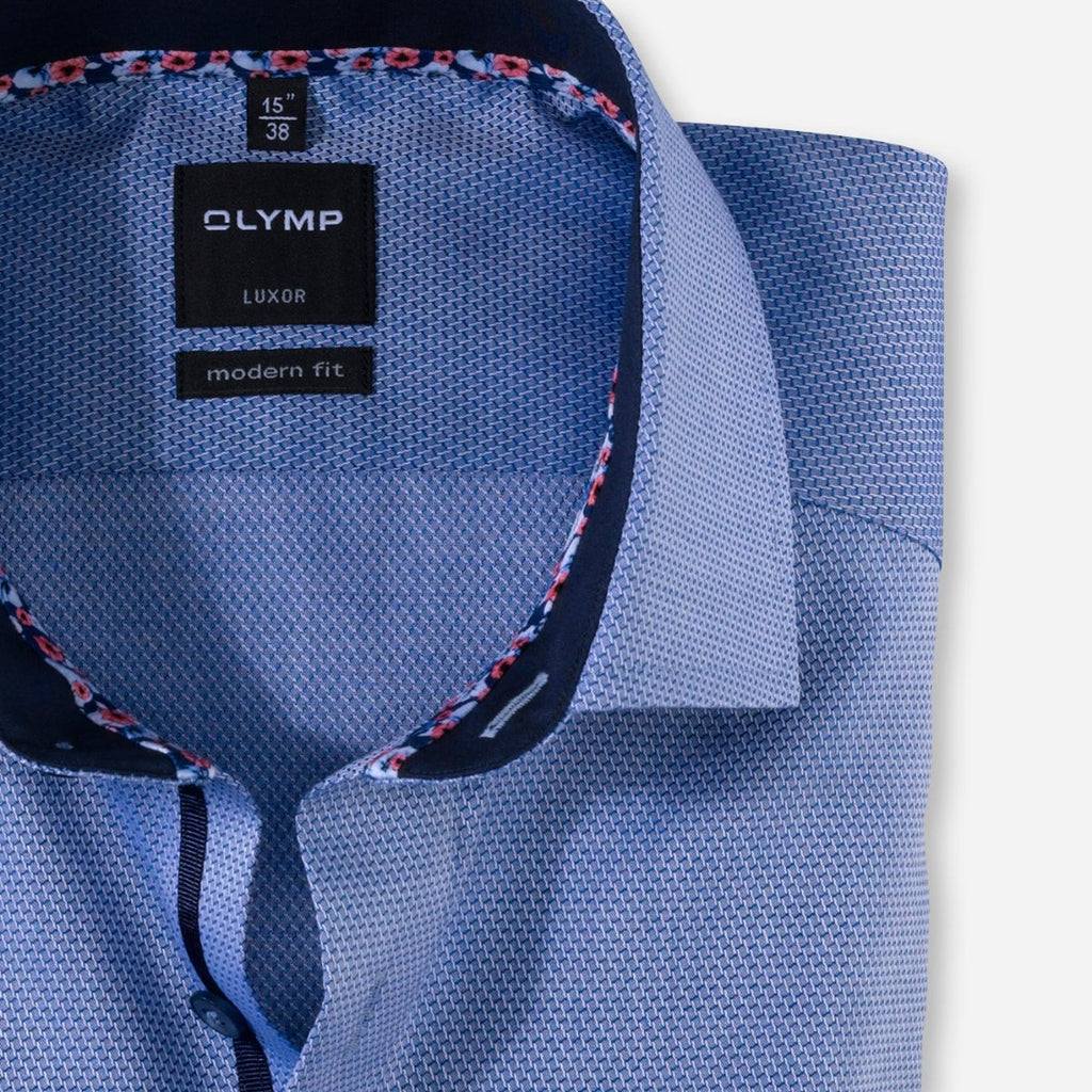 Olymp Modern Fit Dark Blue Shirt - Bernard Owens