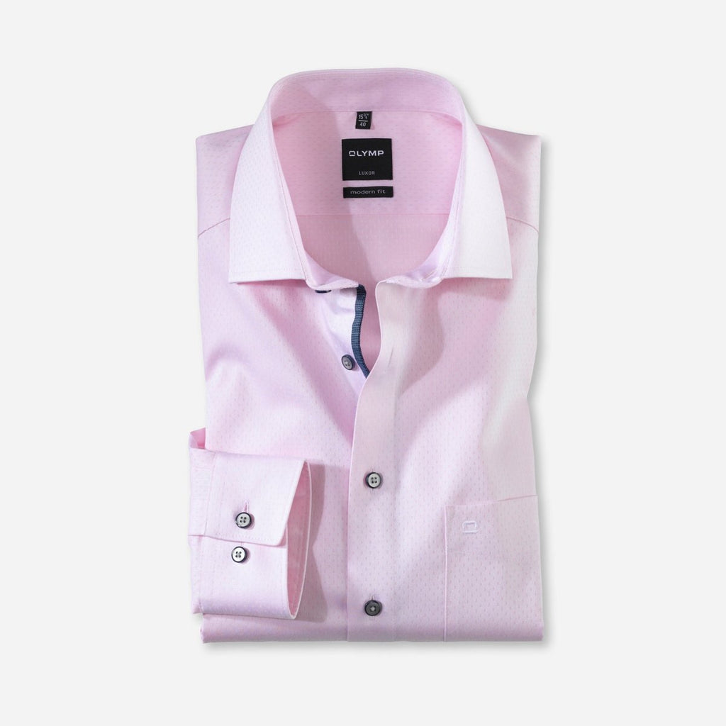 Olymp Modern Fit Pink Dress Shirt - Bernard Owens