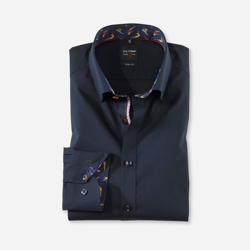 Olymp Body Fit Navy Shirt - Bernard Owens