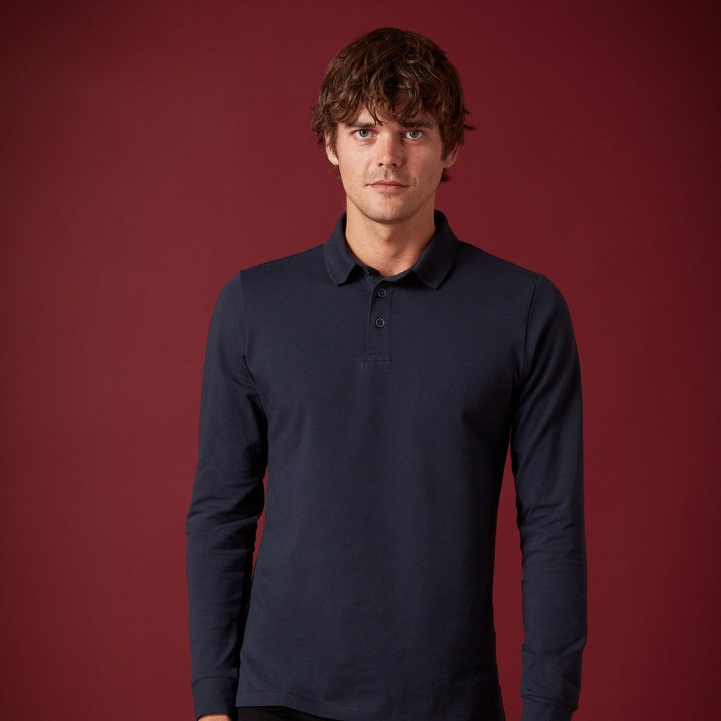 Remus Uomo Tapered Fit Long Sleeve Polo - Bernard Owens