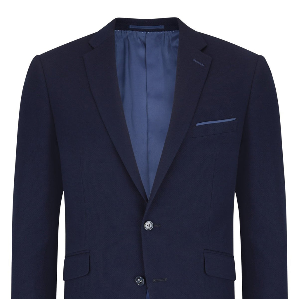 Daniel Grahame Tapered Fit Navy Jacket - Bernard Owens