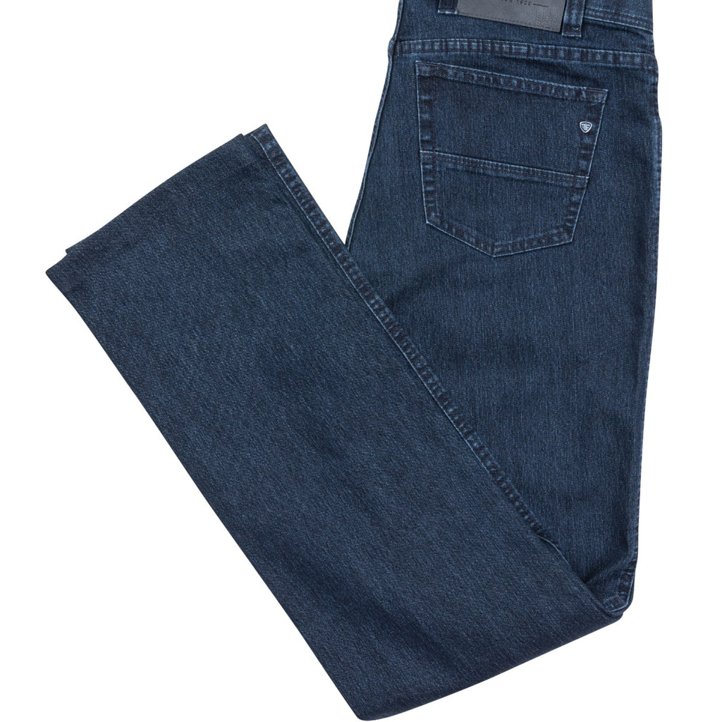 Bruhl Genua B Regular Fit Jeans in Blue - Bernard Owens