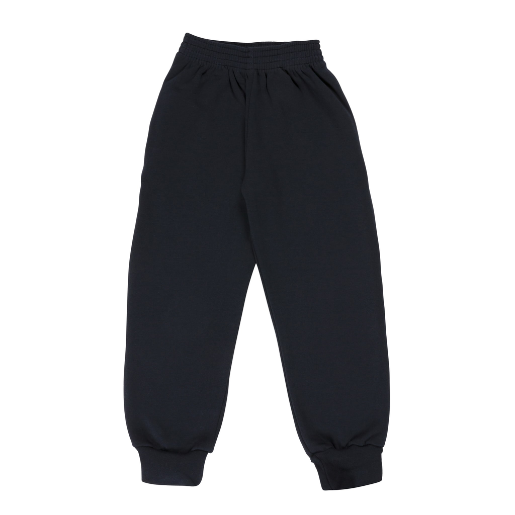 Plain Navy Track Bottoms - Bernard Owens