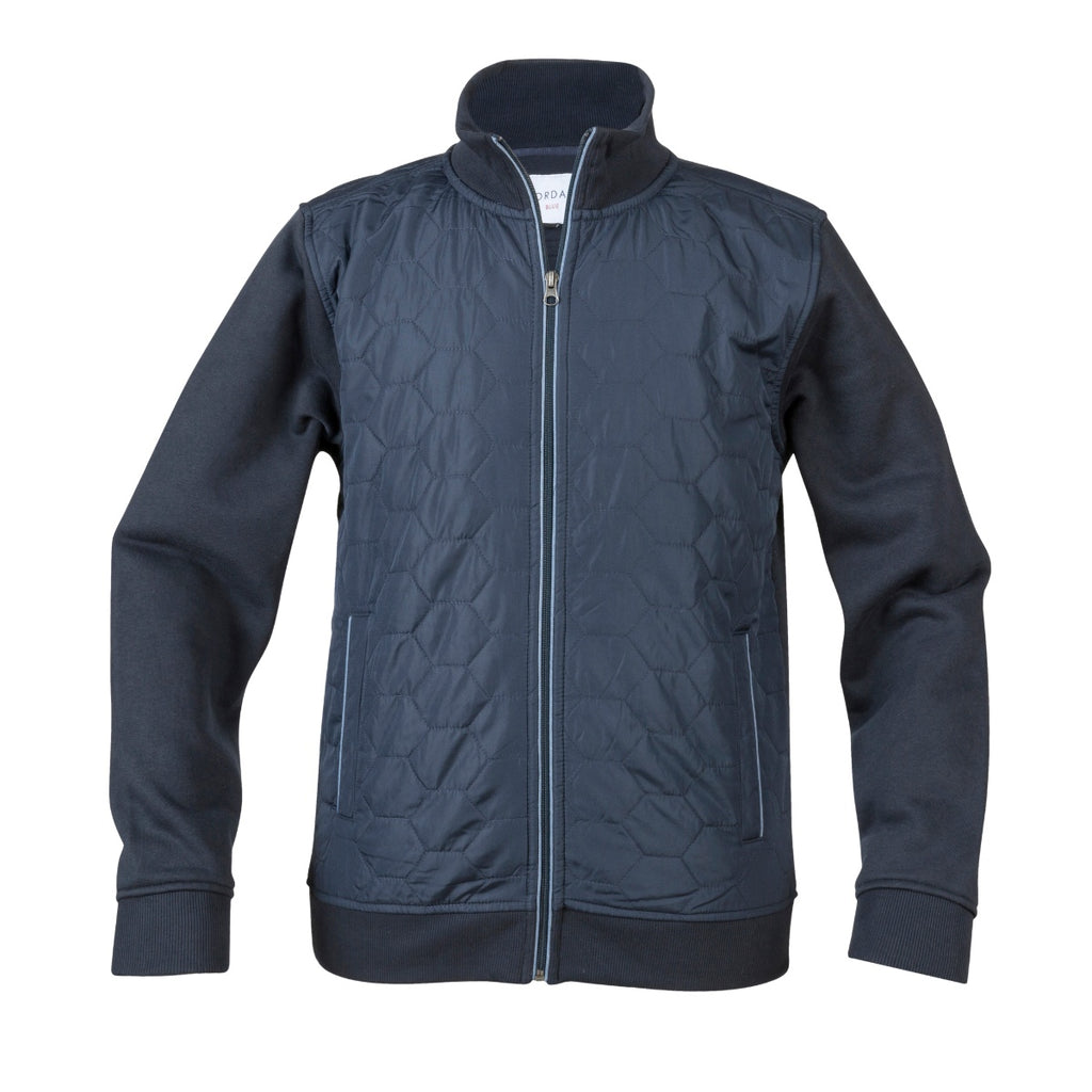 Giordano Quilted Zip Navy Top - Bernard Owens