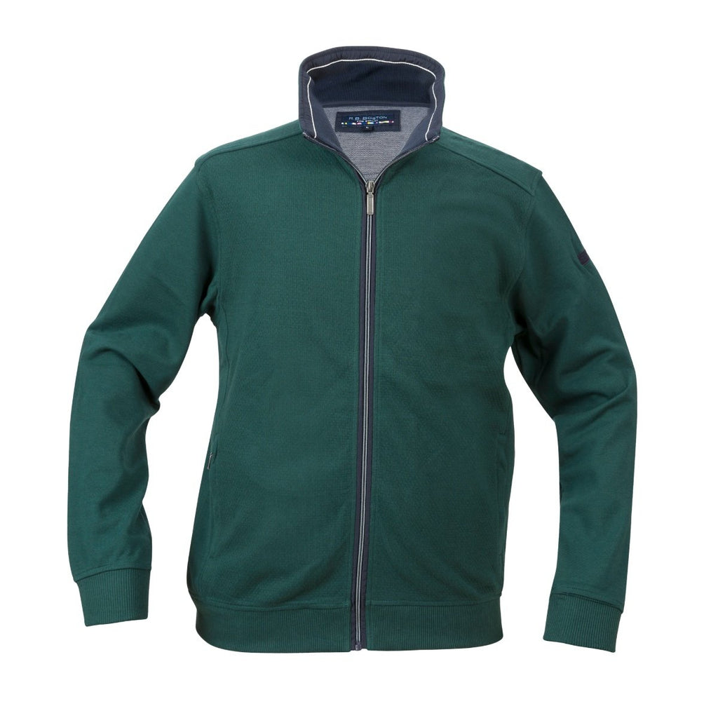 R.B. Boston Full Zip Green Cardigan - Bernard Owens