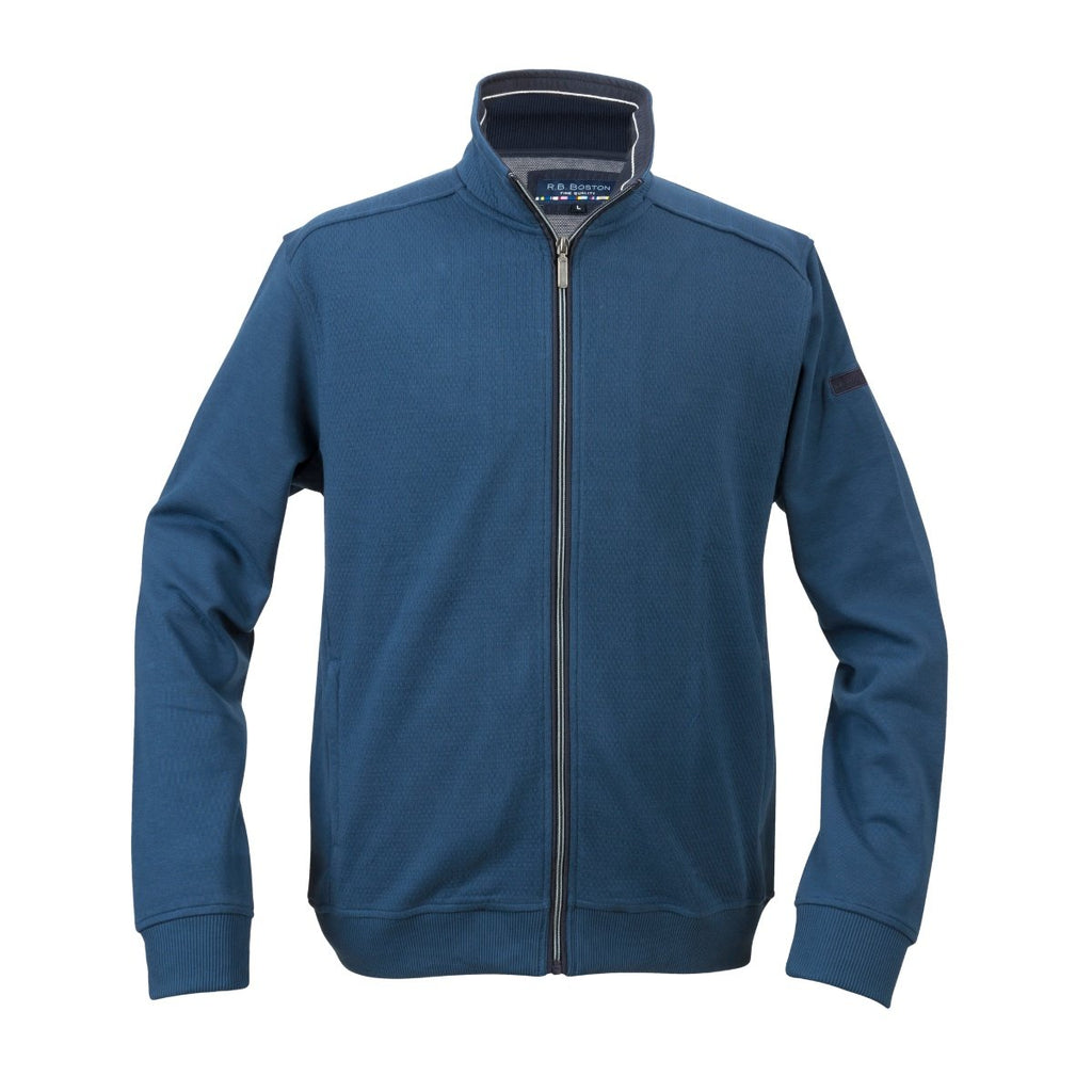 R.B. Boston Full Zip Blue Cardigan - Bernard Owens