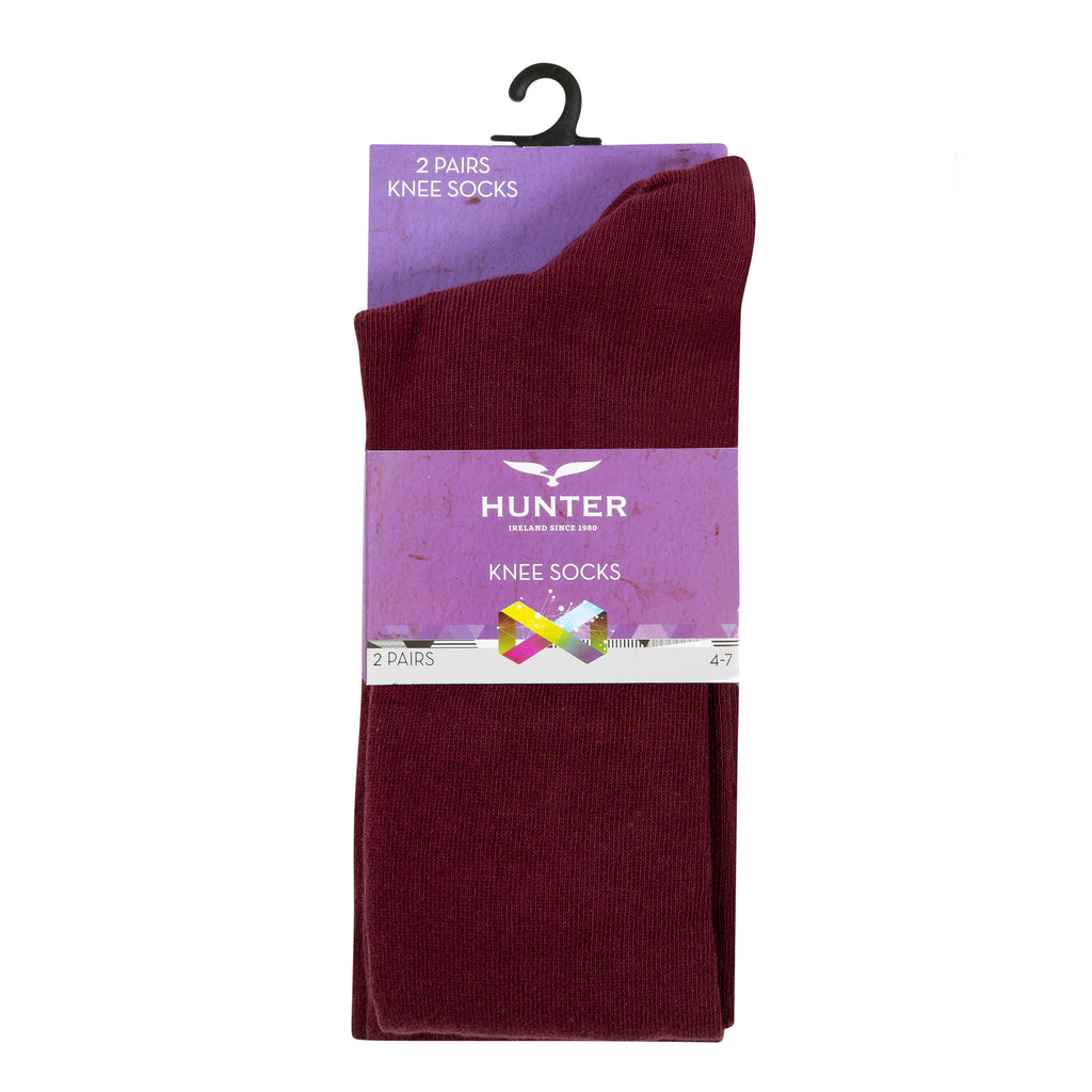 St Wolstan's Wine Knee Socks Twin Pack - Bernard Owens