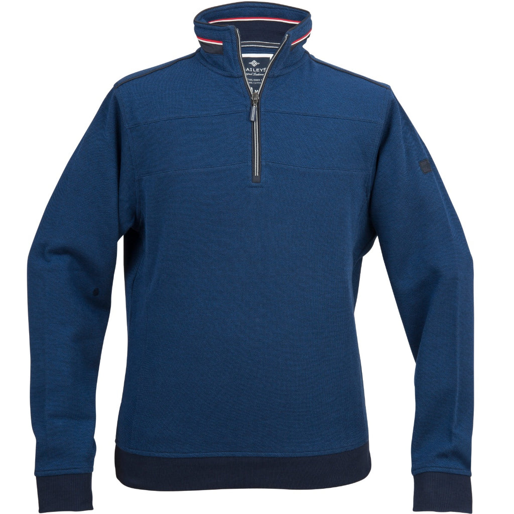 Bailey 1/4 Zip Sweater Dark Blue - Bernard Owens