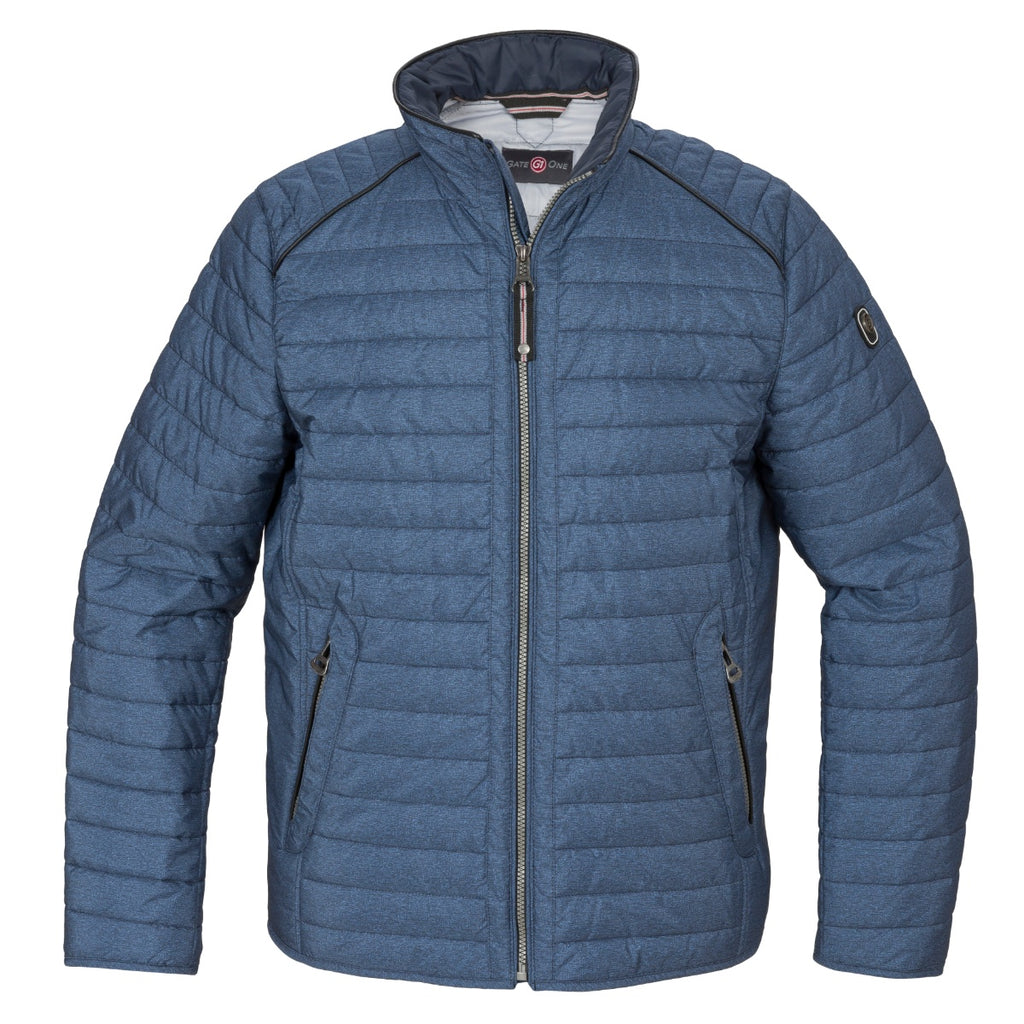 Gate One Blue Quilted Jacket - Bernard Owens