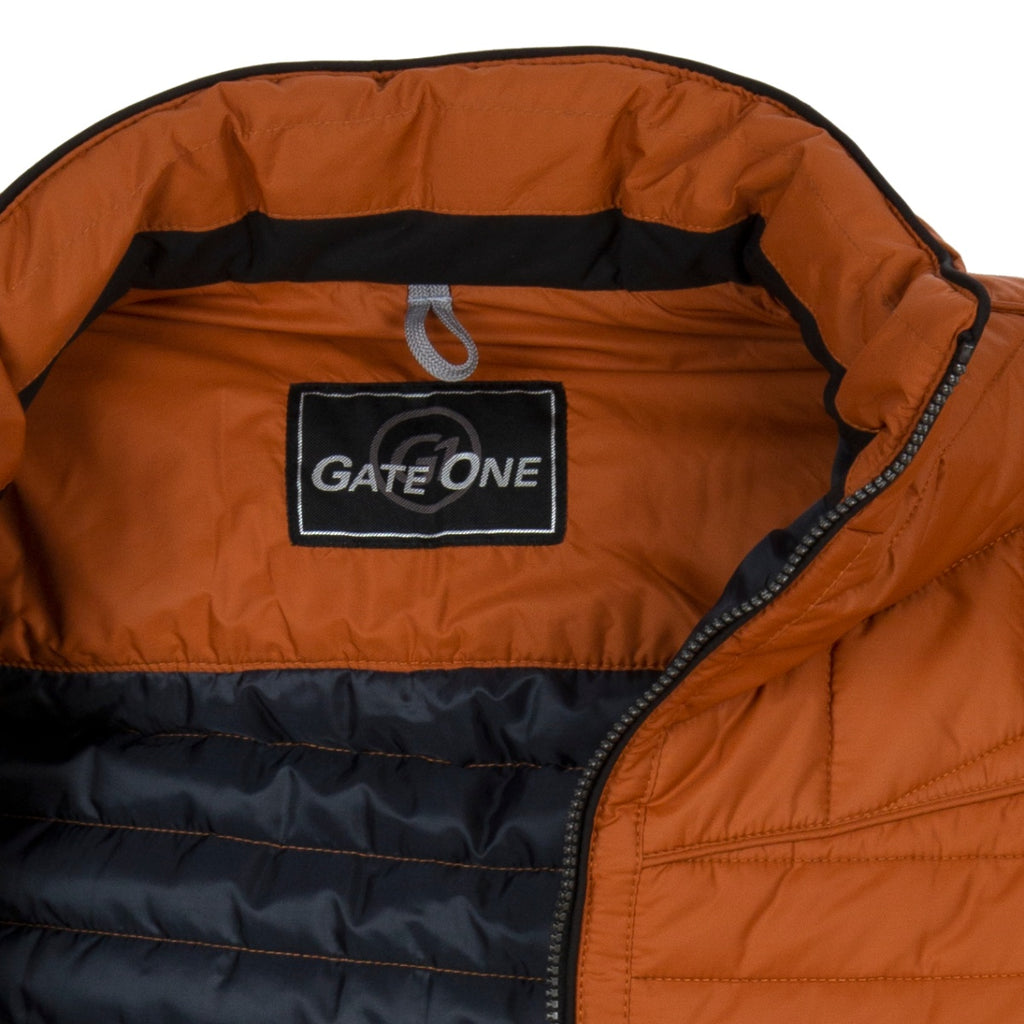 Gate One Rust Brown Quilted Jacket - Bernard Owens