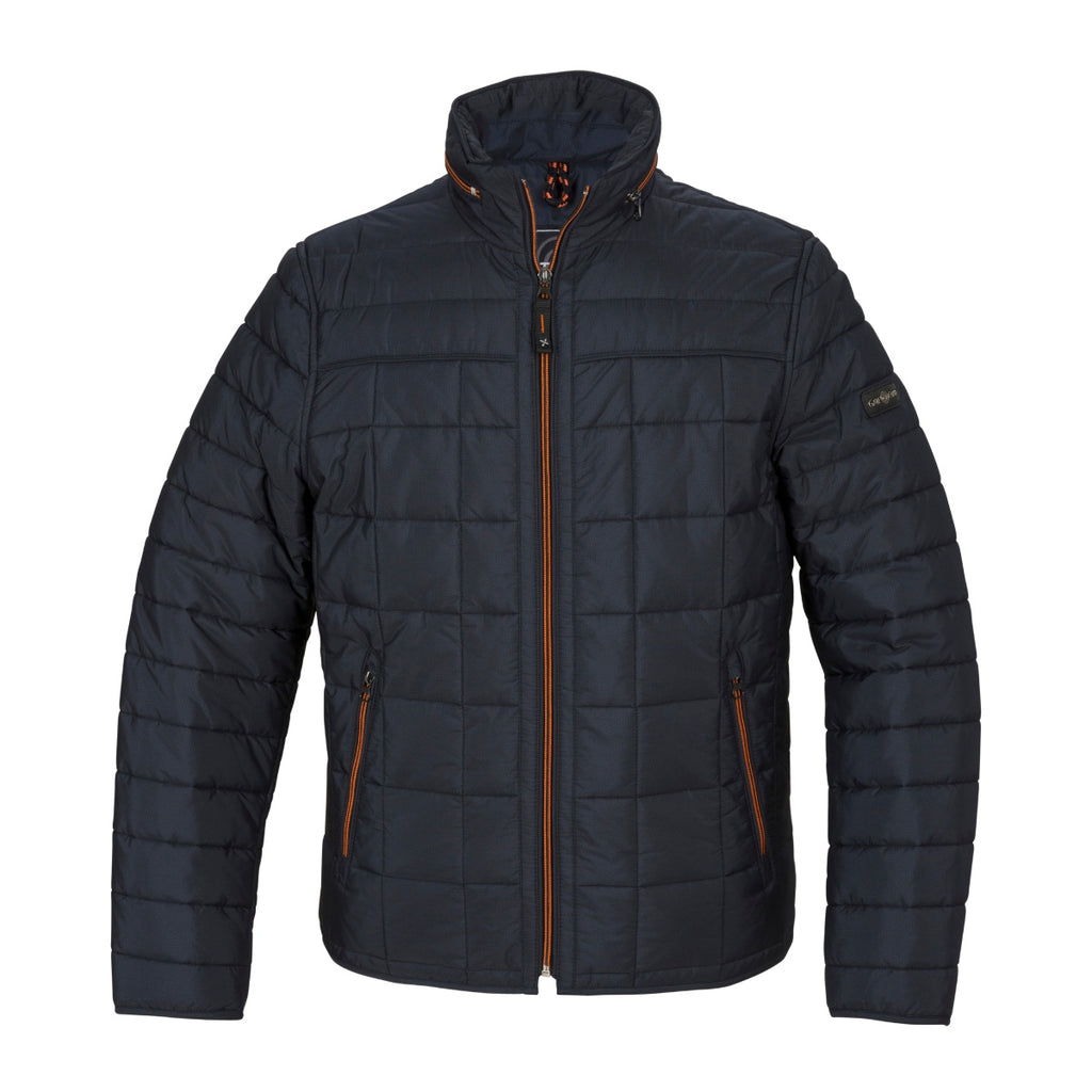 Gate One Navy Quilted Jacket - Bernard Owens