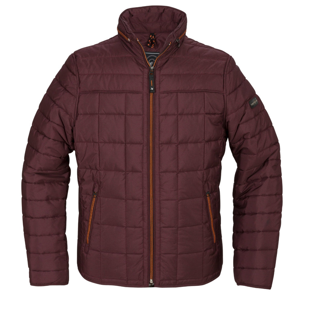 Gate One Burgunday Quilted Jacket - Bernard Owens