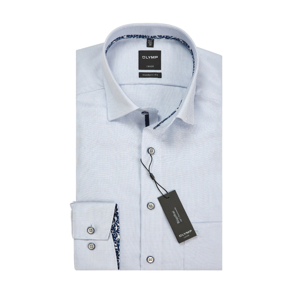Olymp Modern Fit Light Blue Shirt - Bernard Owens