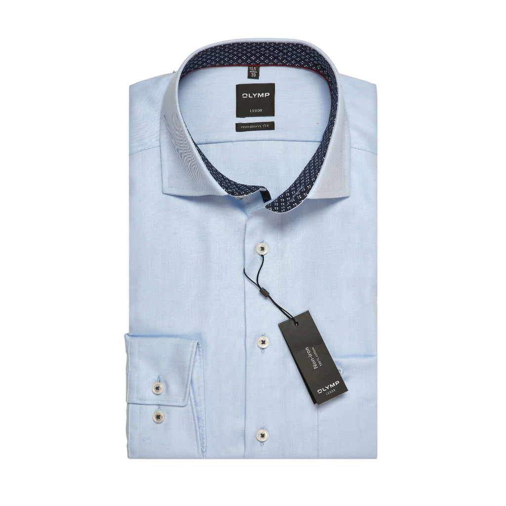 Olymp Modern Fit Blue Dress Shirt - Bernard Owens