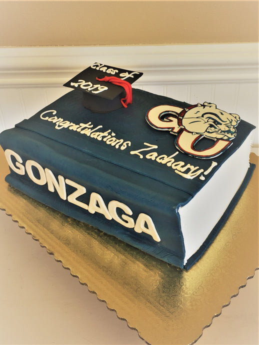 Gonzaga Graduation Textbook Cake for 25 people