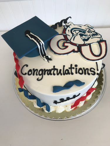 Gonzaga Graduation Cake for 10-12 people