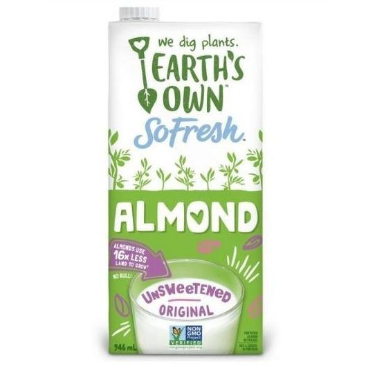 Earth's Own So Fresh Almond Milk Unsweetened 946mL Plant-Based Dairy Larry's Online Delivery