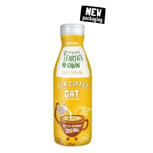 Earth's Own Cafe Cream 473ml Plant-Based Dairy Larry's Online Delivery