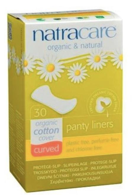 Natracare 30 Organic Panty Liners- Cotton Cover Curved Body Care Body Care