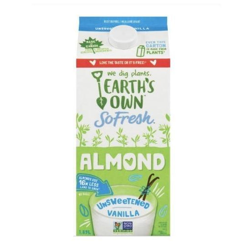 Earth's Own Vanilla Almond Milk 1.89L Plant-Based Dairy Plant-Based Dairy