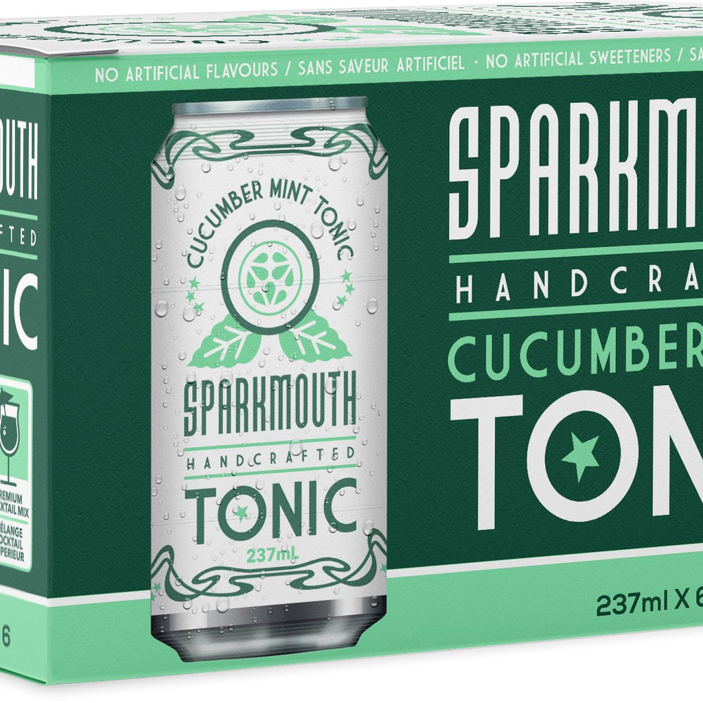 Sparkmouth Tonic 6 pack, 237ml Drinks Drinks Cucumber Mint