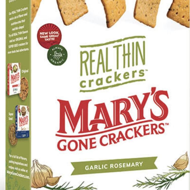 Mary's Thin Garlic Rosemary Crackers