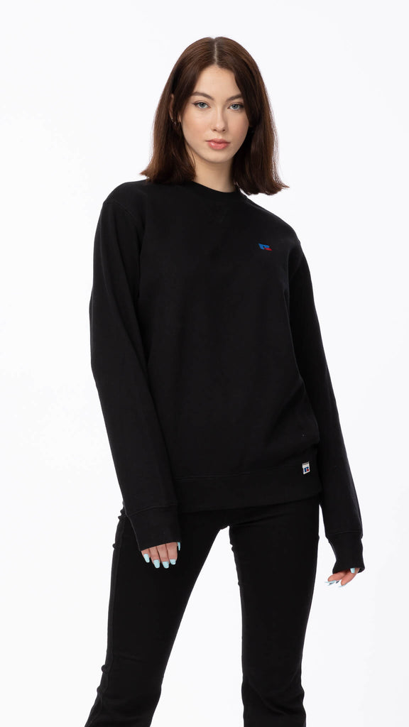 Russell Athletic - Black Crewneck | Clothing - Sweaters - Crew-necks
