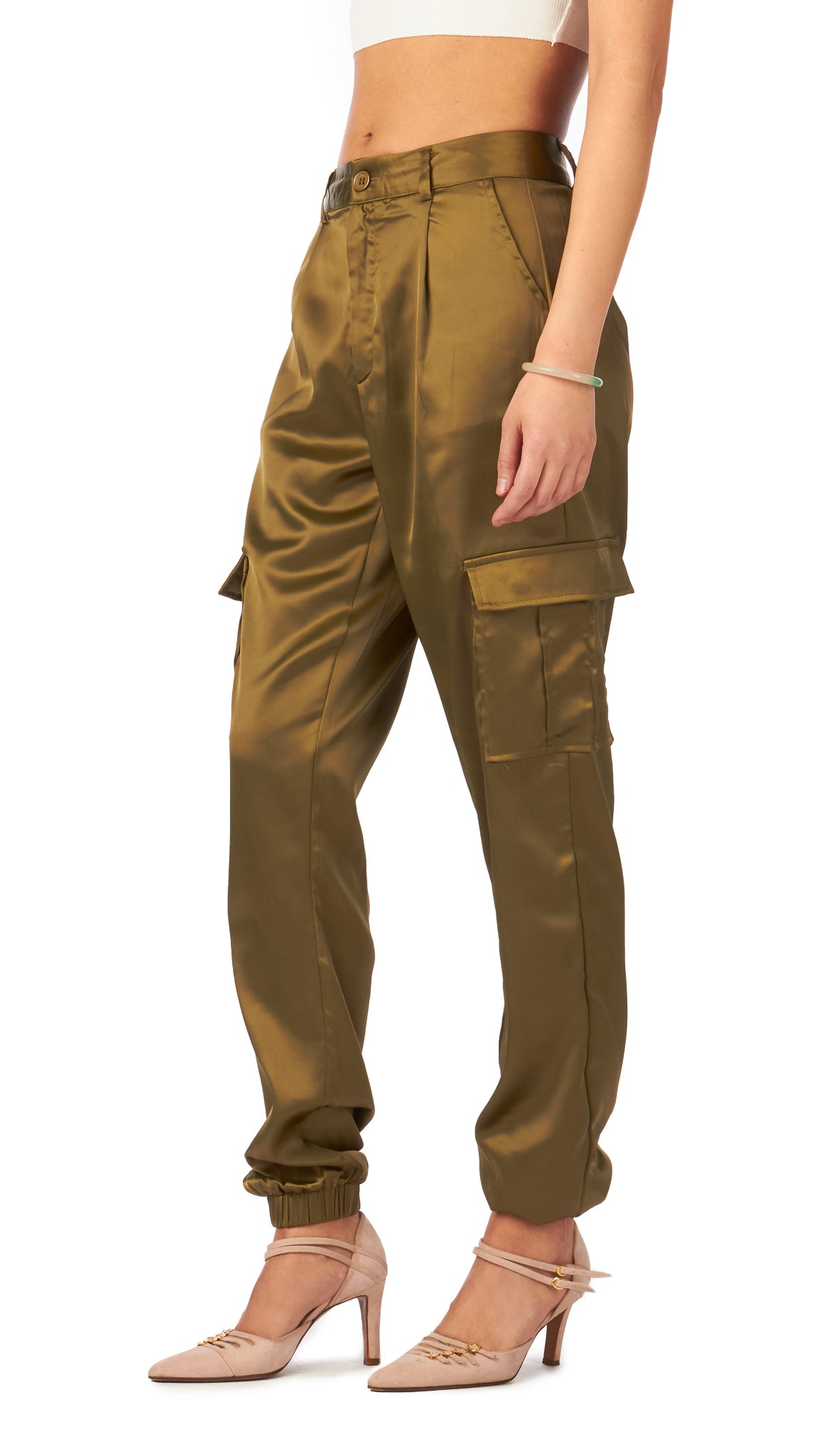 Daisy Street, Utility Satin Trouser, Clothing - Bottoms - Pants - Editorial Boutique