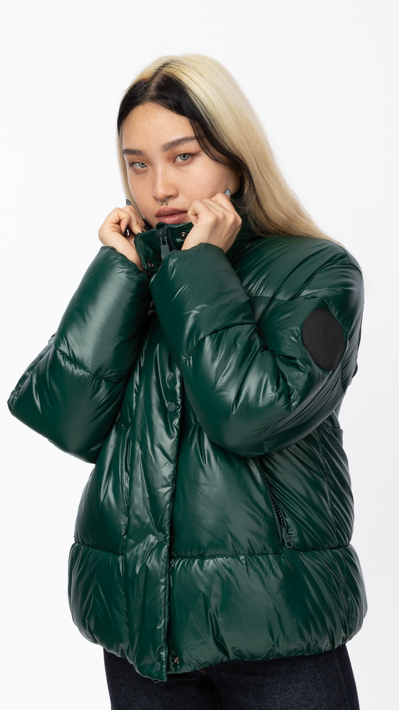 Save The Duck - Green Lucky Puffer Fleece Jacket | Clothing - Jackets & Coats - Jackets