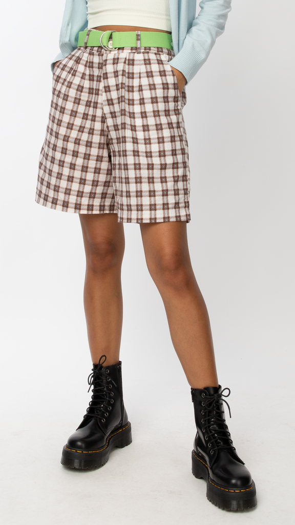 Motel - Brown Lexta Short | Clothing - Bottoms - Shorts