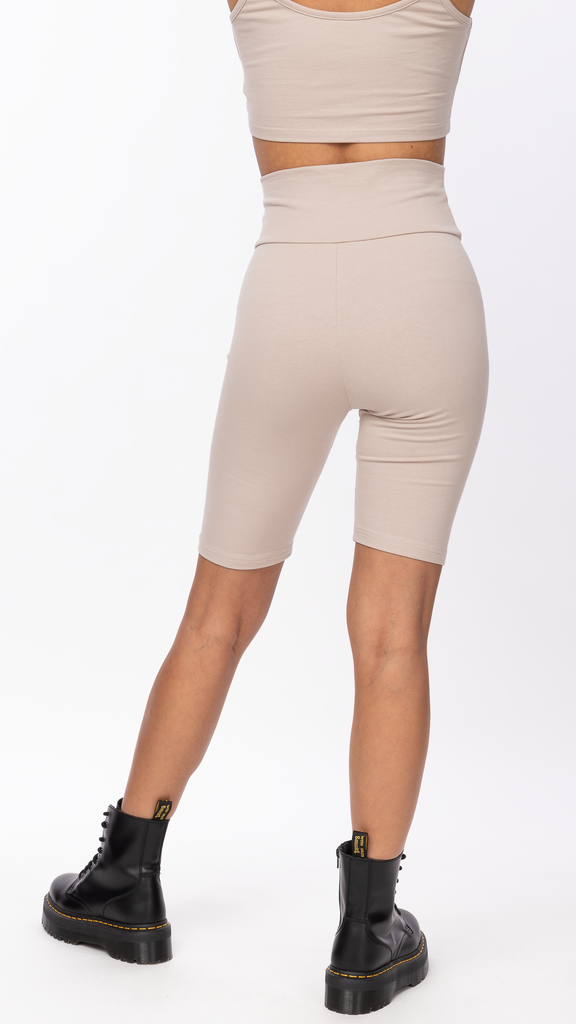 Honey Suckle - Taupe Biker Short | Clothing - Bottoms - Shorts
