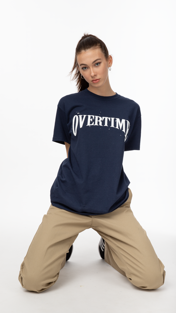 Overtime - Navy Stamp Tee | Clothing - Tops - T-Shirts