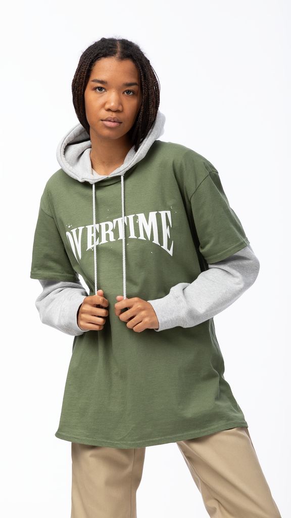 Overtime - Green Stamp Tee | Clothing - Tops - T-Shirts