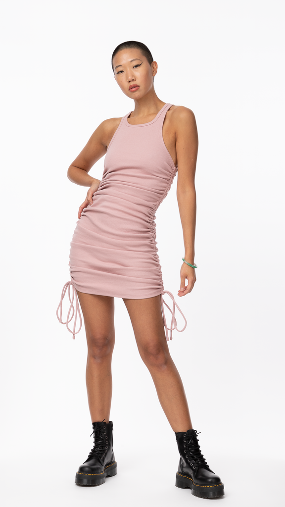 Honey Suckle - Pink Ruched Dress | Clothing - Dresses