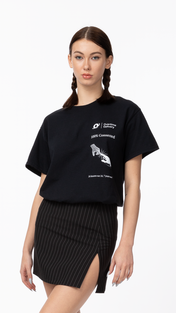 Overtime - 100% Connected  Tee Black | Clothing - Tops - T-Shirts