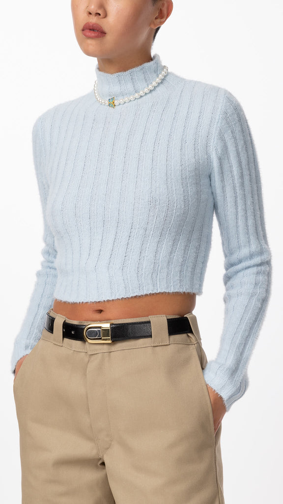Sweet Dreams - Sky Cropped Knit | Clothing - Sweaters - Knits