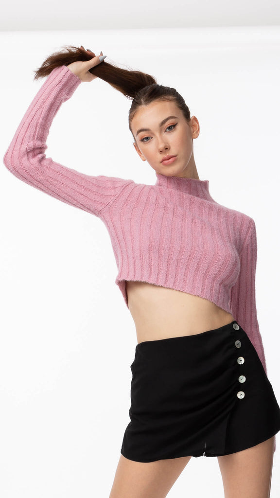 Sweet Dreams - Pink Cropped Knit | Clothing - Sweaters - Knits