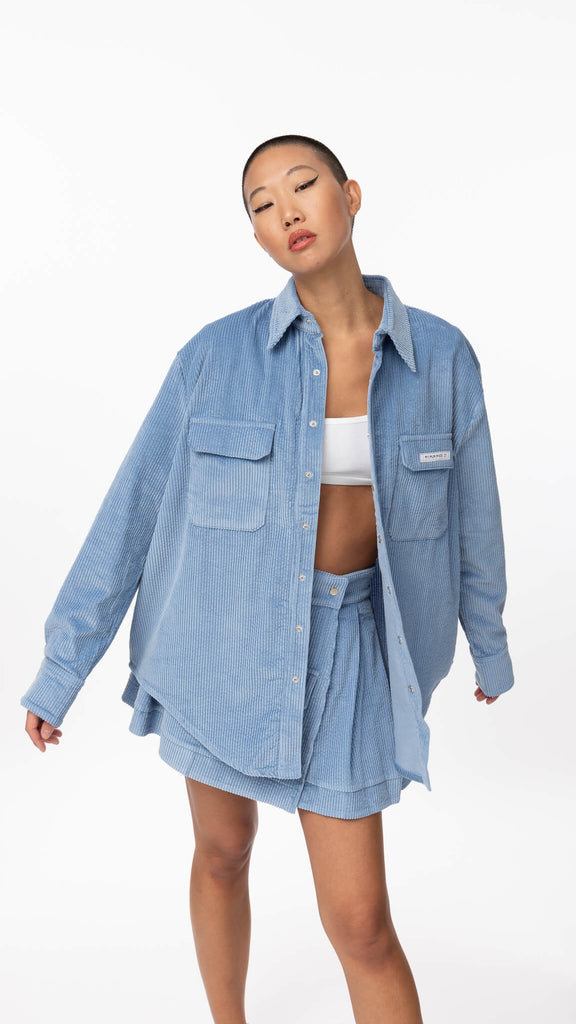 My Mum Made It - Corduroy Pocket Oversized Top | Clothing - Tops - Shirts