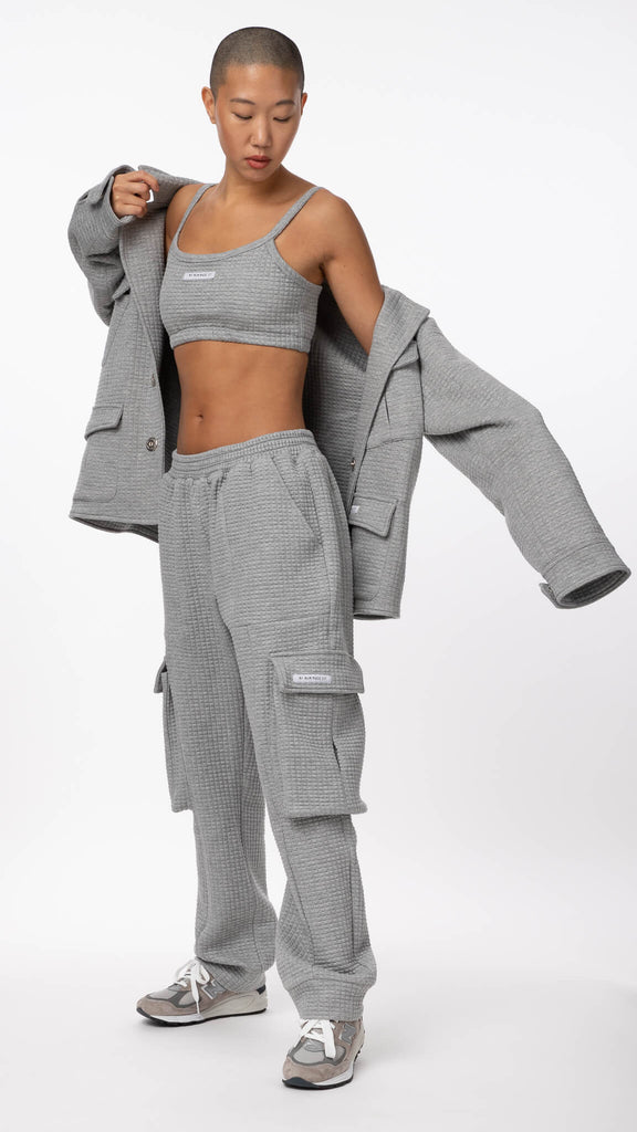 My Mum Made It - Grey Quilted Pocket Sweatpant | Clothing - Bottoms - Joggers